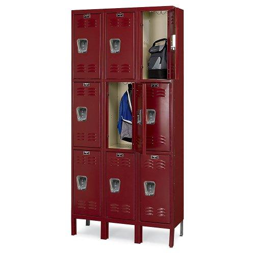 Hallowell Premium 3-Tier Steel Locker - 12X15x24
