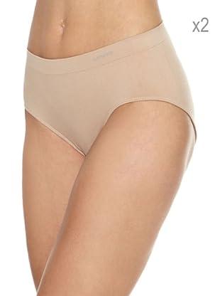 2fc10ffb977b Unno Pack x 2 Braguitas Sin Costuras Microfibra (Nude)