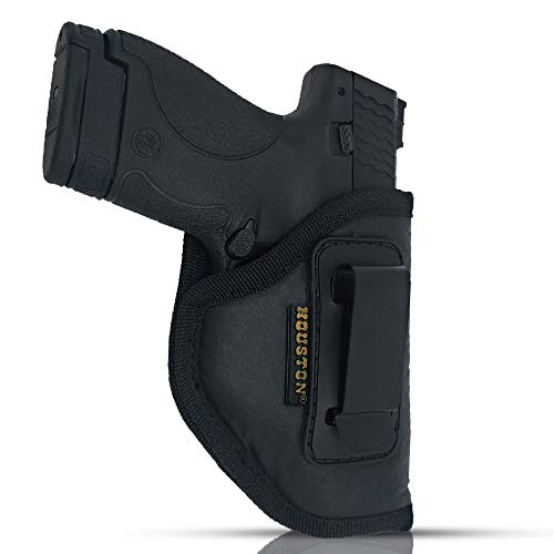 IWB Gun Holster by Houston - ECO Leather Concealed Carry Soft Material | Fits Glock 26/27/33, Shield, XDS, Taurus 709, Taurus Pro C, Walther P22, Beretta Nano, SCCY Sky.Ruger LC9 (Right Hand)