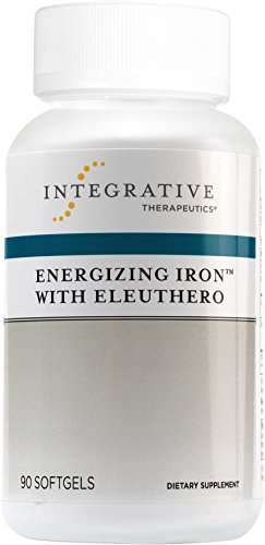 Energizing Body Concentrate (Integrative Therapeutics - Energizing Iron with Eleuthero - Maximum Absorption Iron with Vitamin B12 for Energy & Stamina - 90 Softgels)