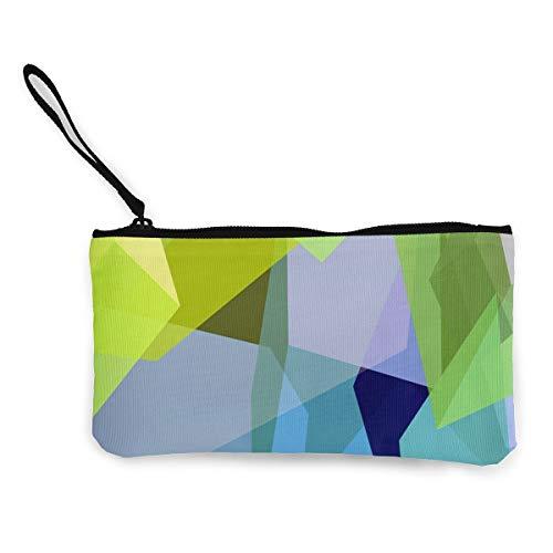 Green Women Zip Canvas Wallet TravelPersonalized Case ()