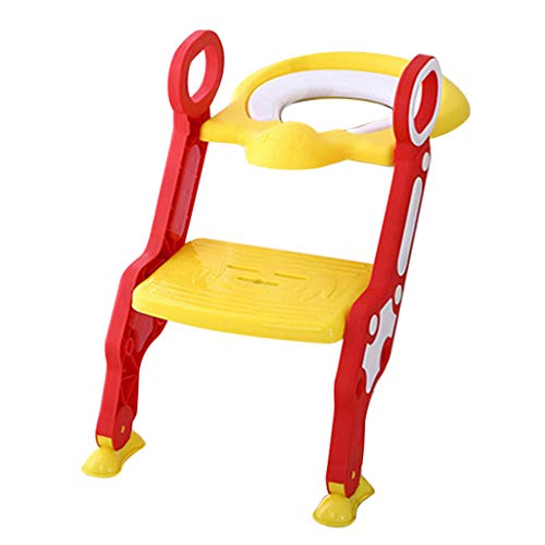 Ada Toilet Specifications - Baby Toilet Chair Potty Training Toilet Seat with Step Stool Ladder for Boy and Girl Baby (Free, Yellow)