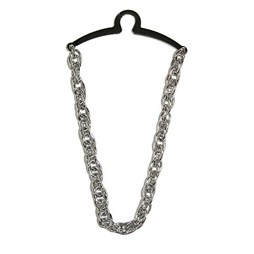 Competition Inc. Men's Double Loop Tie Chain, Silver by Competition Inc.