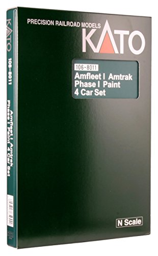 Kato USA Model Train Products N Amfleet I Amtrak Phase I Paint Train 4-Car Set