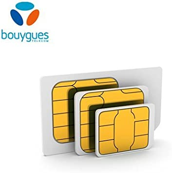 Carte Sim Bouygues Telecom Carte Prepayee Amazon Fr High Tech