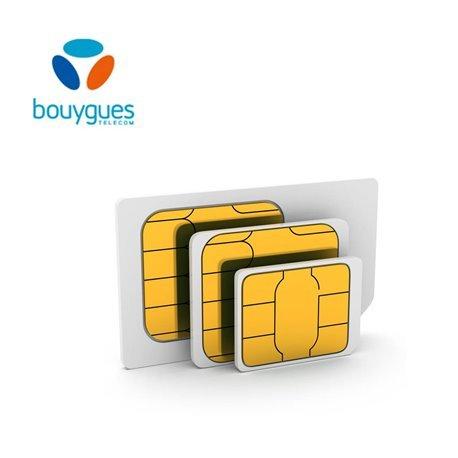 carte sim 1€ bouygues Prepaid SIM card Bouygues Télé  Buy Online in Andorra