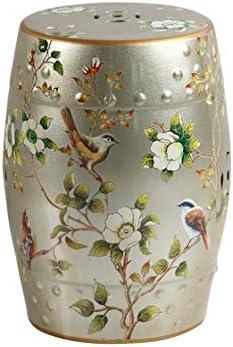Enjoyable Amazon Com Fitlyiee Garden Decoration Ceramic Garden Stool Pabps2019 Chair Design Images Pabps2019Com