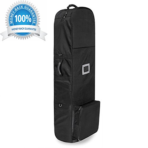 loukou Golf Travel Covers Bag with 2 Wheels for Travelling Golfer by loukou