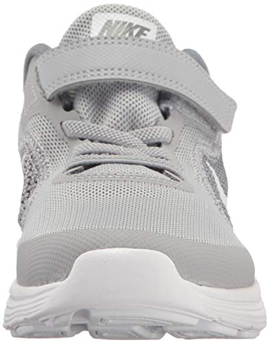 NIKE Kids' Revolution 3 (Psv) Running-Shoes, Wolf Grey/White/Cool Grey, 1.5 M US Little Kid by Nike (Image #4)