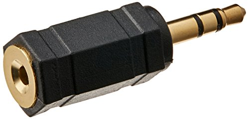 Monoprice 107125 3.5mm Stereo Plug to 2.5mm Mono Jack Adaptor, Gold Plated