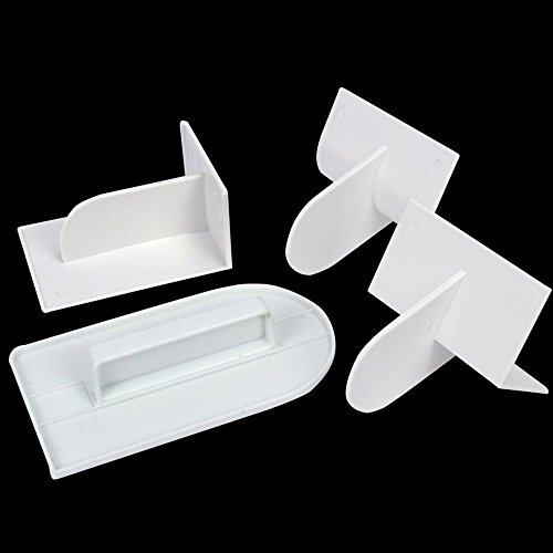 Review Tomnk 4PCS Fondant Smoother 4 Different Fondant Smoothing Tool Cake Decorate Smoother