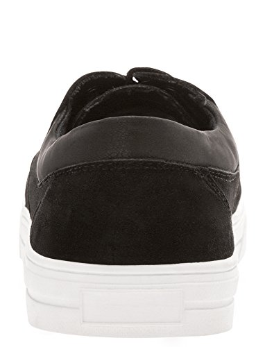 en Suédine Homme 2900n Empiècements Cuir Synthétique avec en Noir Chaussures oodji Ultra 0aqI4