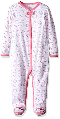 Hello Kitty Baby Core Allover Print Coverall, Bright White, 18 (Infant Bright White Apparel)
