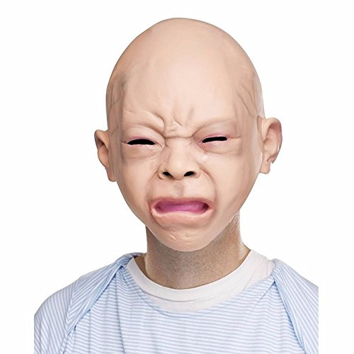 New Halloween Latex Disgusted Happy Cry Baby Costume Mask Halloween Full Head Party Masks