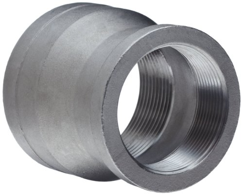 "Stainless Steel 304 Cast Pipe Fitting, Reducing Coupling, MSS SP-114, 3/4"" X 1/2"" NPT Female"