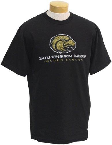 (NCAA Men's Southern Mississippi Golden Eagles Biggies Short Sleeved T-Shirt (Black,)