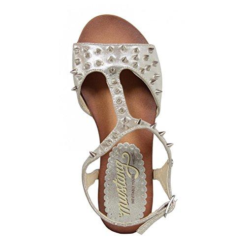 Sandales Femme 55591 Retro MTNG Plata pour 6qdvH7Ha