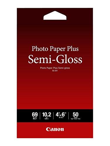 Canon Photo Paper Plus Semi-Gloss, 4 x 6 Inches, 50 Sheets (1686B014)