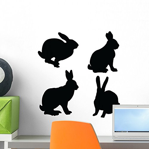 Wallmonkeys Rabbit Collection Vector Wall Decal Peel and Stick Graphic WM127125 (18 in H x 17 in W)