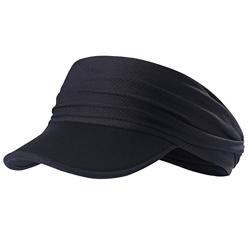 - MAGARROW Marathon Visor Cap Foldable Outdoor Sports Visor Sportswear Headband Cycling Hats (Black)