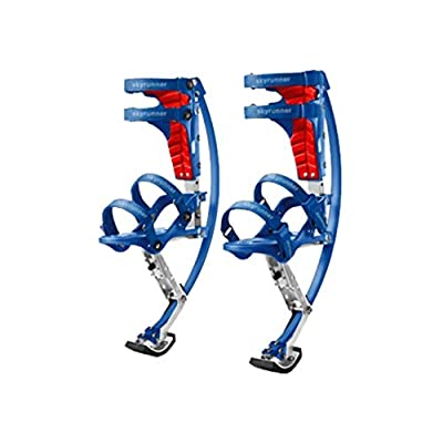 Kids/child Youth Kangaroo Shoes Jumping Stilts Fitness Exercise (88-132lbs/40-60kg) (Black) (blue) by Skyrunner: Toys & Games