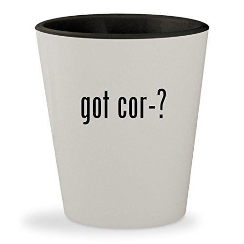got cor-? - White Outer & Black Inner Ceramic 1.5oz Shot Glass (Rot Ban)