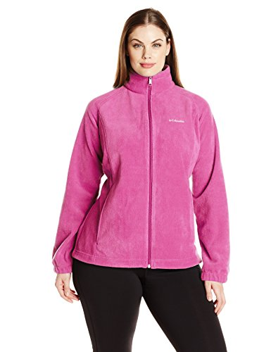 Columbia Women's Plus Size Benton Springs Full Zip Jacket, Fuchsia, 3X by Columbia