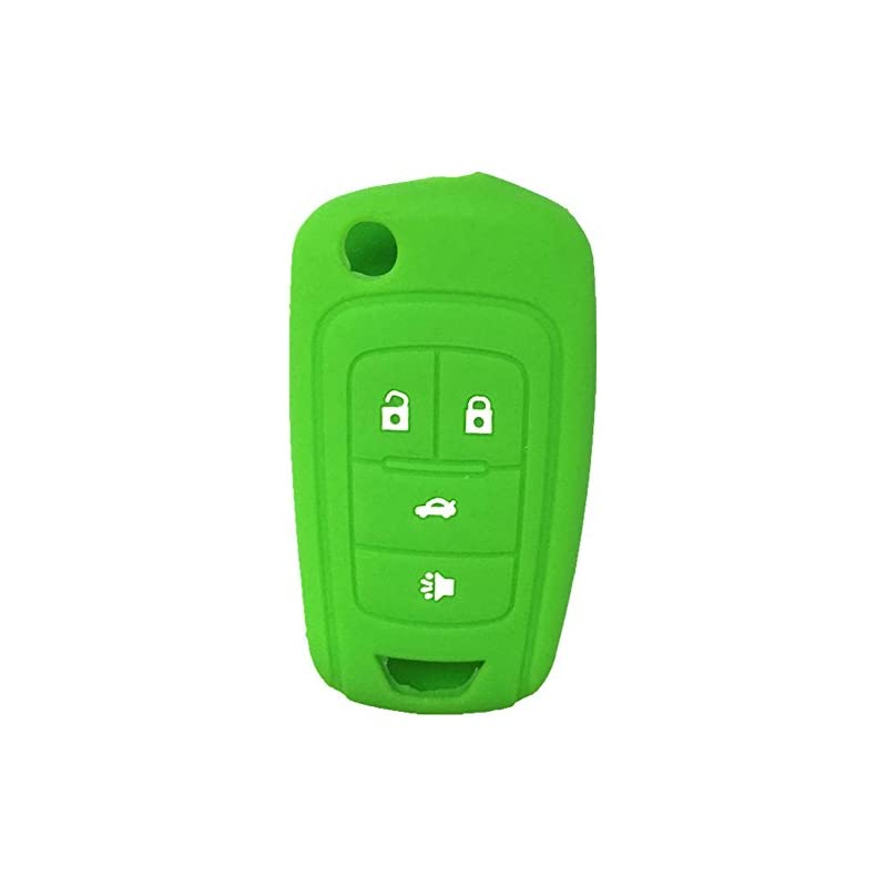 New Green 4 Buttons Key Cover for Flip F