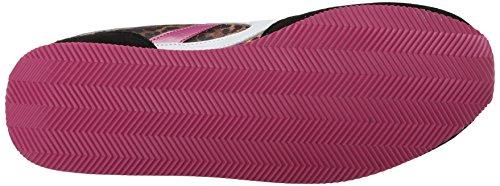 A partir de la puesta del sol Skechers Bobs la manera de la zapatilla de deporte Black/White/Pink