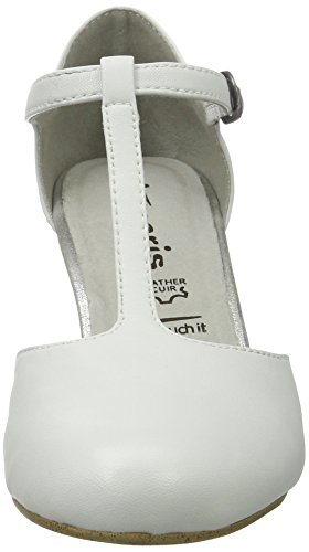 Blanc 24490 white 100 Escarpins Tamaris Femme CgRq4t