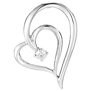 DEVRAHA Ladies 18K White Gold Diamond Pendant