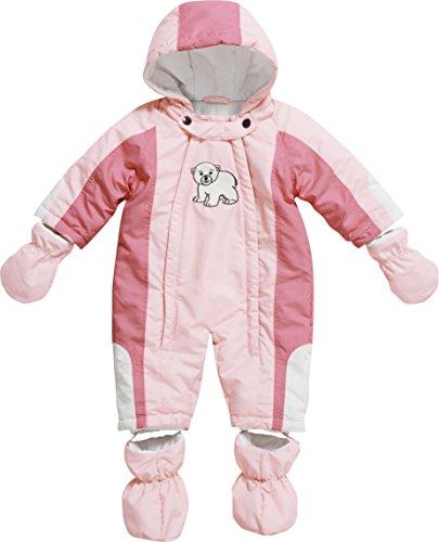 Playshoes Unisex - Baby Schneeanzug, Schneeoverall Eisbär, Gr. 68, Rosa