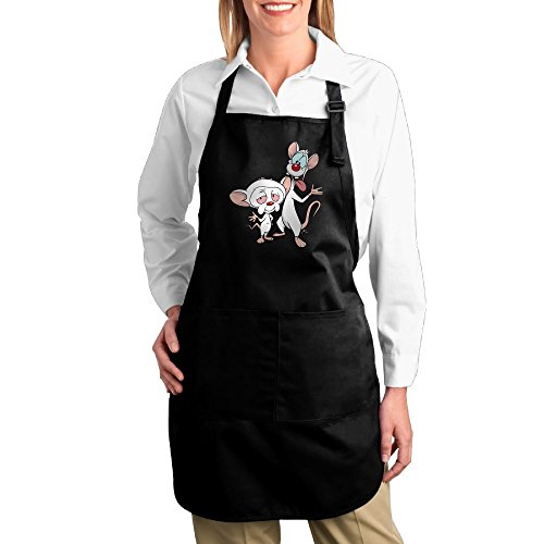 [Pinky And The Brain Cartoon Funny Grilling Apron Chef Kitchen Cooking Apron Bib Easy Care] (Freakazoid Costume)