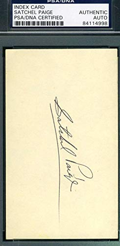 SATCHEL PAIGE PSA DNA Mint Autograph 3x5 Signed Index Card