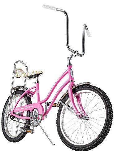 Schwinn Classic Sting-Ray Fair Lady Girl's Single-Speed Bicycle, Featuring 13-Inch/Small Step-Through Steel Frame, Rear Coaster Brake, High-Rise Ape Handlebars, and 20-Inch Wheels, Pink (Renewed) (Vintage Schwinn Stingray Bike)