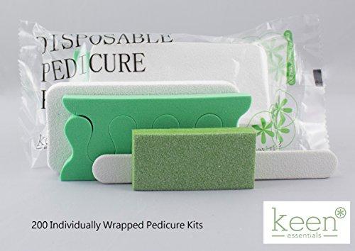 Manicure Pack (KEEN Disposable Pedicure Kits 200 KITS (4 item Kit-Packs) NAIL SALON Hy·giene Pack Disposable Manicure and Pedicure Nail Salon Supplies)