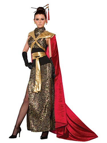 Forum Women's Dragon Empress Deluxe Costume Dress with Full Length Cape, As Shown, STD - Women's Dragon Halloween Costume