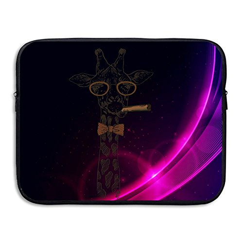 Custom Laptop Sleeve 13/15 Inch Macbook Zipper Briefcase Giraffe Print Portable Messenger Bag