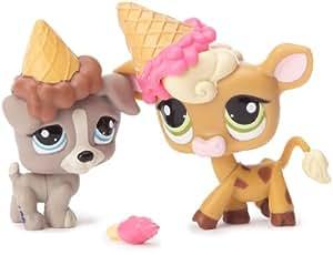 Hasbro Littlest Pet Shop Amigas Pet Shop B 25880 - Mascotas de juguete coleccionables (2 unidades, Jack Russel Terrier y vaca)