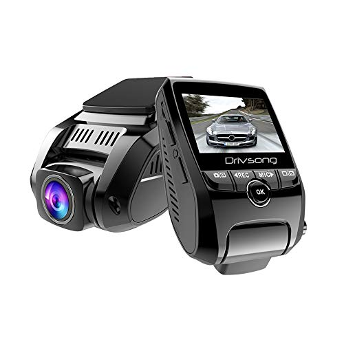 Dual Dash Cam, Drivsong HD 1080P Car On-Dash Cameras 2.4 LCD 170