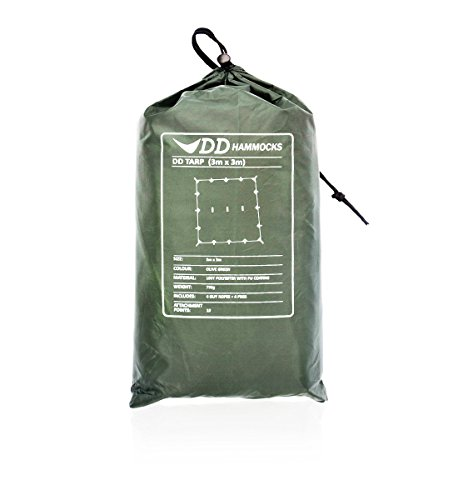 DD Tarp 3m x 3m - Olive Green (10ft x - Shipping Time Fedex Average