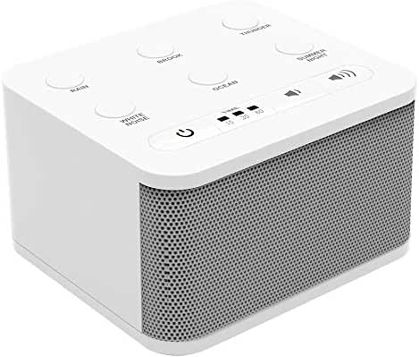 Big Red Rooster 6 Sound White Noise Machine | Sleep Sound Machine for Sleeping | 6 Soothing Sounds | White Noise Machine for Office Privacy | Plug in Or Battery Operated | Baby or Travel