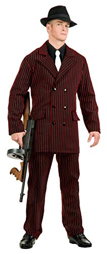 Charades Men's Classic Gangster, Black/red X-Large -