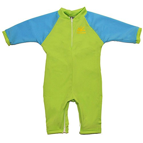 Fiji Sun Protective UPF 50+ Baby Swimsuit by Nozone in Lime/Aqua, 6-12 months