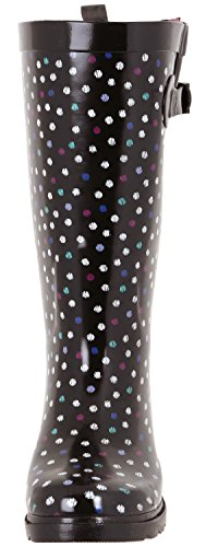 Roses Ladies Black Shiny amp; York Capelli Printed Lace Rainboot Dot Multi New Tall vwAqY
