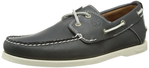 Timberland Earthkeepers Heritage Boat 2 Eye, Chaussures bateau homme Noir (Blue)