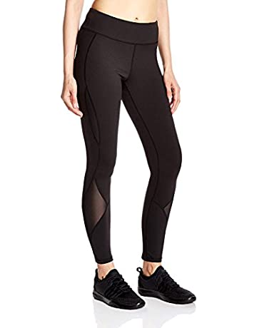 257f513267d8 7Goals Women s Stretchy High Waist Yoga Pants Plus Size Mesh Workout Legging  with Pockets