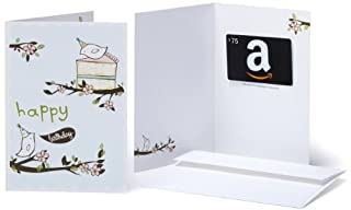 Amazon.com $75 Gift Card in a Greeting Card (Birthday Birds Design) (BT00CTP528) | Amazon price tracker / tracking, Amazon price history charts, Amazon price watches, Amazon price drop alerts