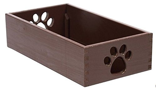 Dynamic Accents Amish Handcrafted Small Pet Toy Box - Mahogany