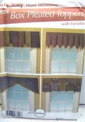 - Simplicity 4684 Sewing Pattern Box Pleated Toppers Valances